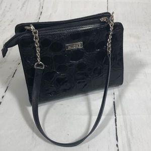 Miche mini bag. Ava cover.Silver chain strap.Black